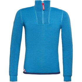 Woolpower 200 Zip Turtle Neck Kinder dolphin blue